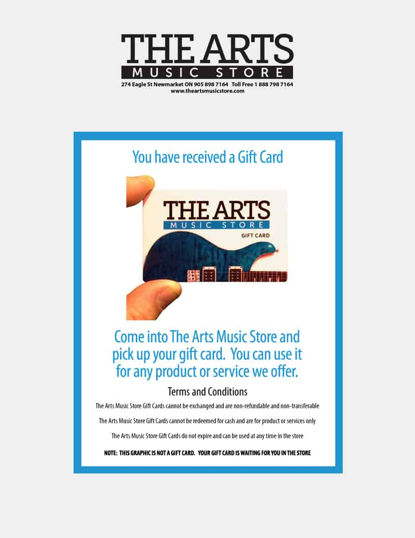 The Arts Music Store Gift Card
