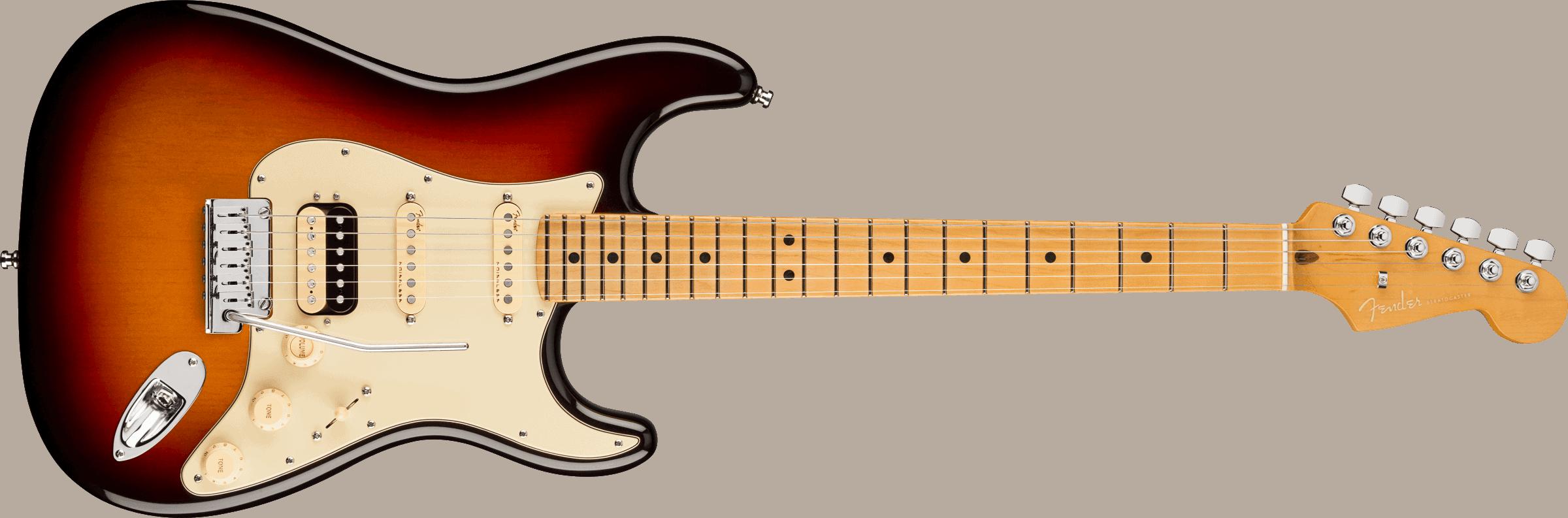 Fender American Ultra Stratocaster® HSS, Maple Fingerboard, Ultraburst