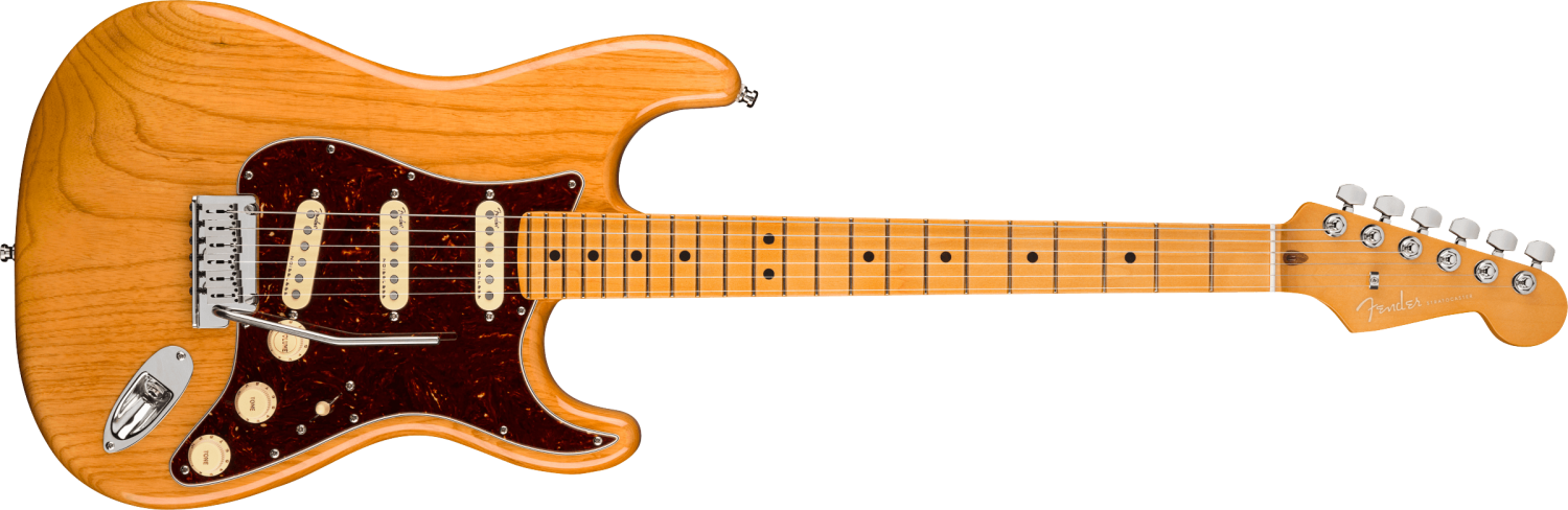 Fender American Ultra Stratocaster®, Maple Fingerboard, Aged Natural
