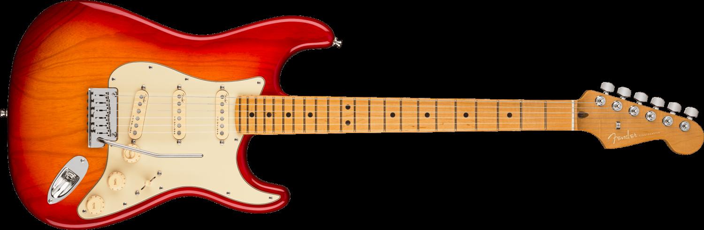 Fender American Ultra Stratocaster®, Maple Fingerboard, Plasma Red Burst