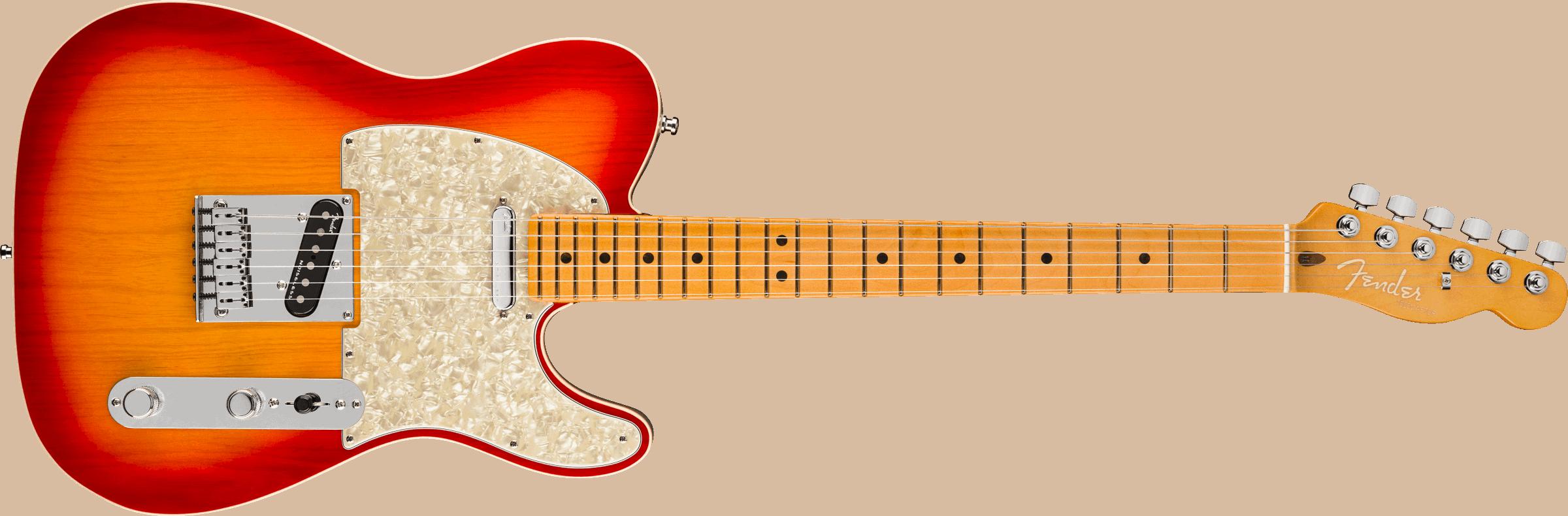Fender American Ultra Telecaster®, Maple Fingerboard, Plasma Red Burst